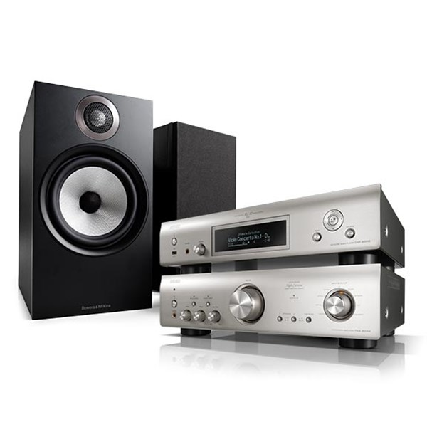 Denon DNP-800NE + PMA-800NE + B&W 606 Stereosystem
