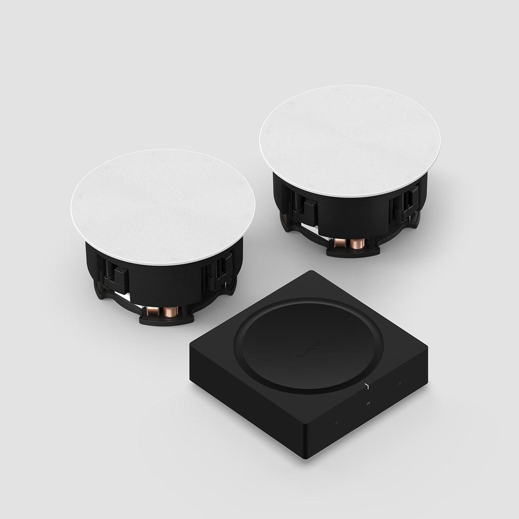 Amp + In-Ceiling Högtalarsystem Högtalarsystem