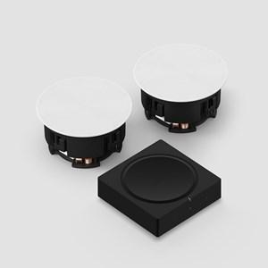 Amp + In-Ceiling Høyttalersystem