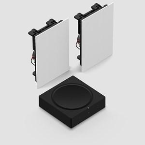 Amp + In-Wall Høyttalersystem
