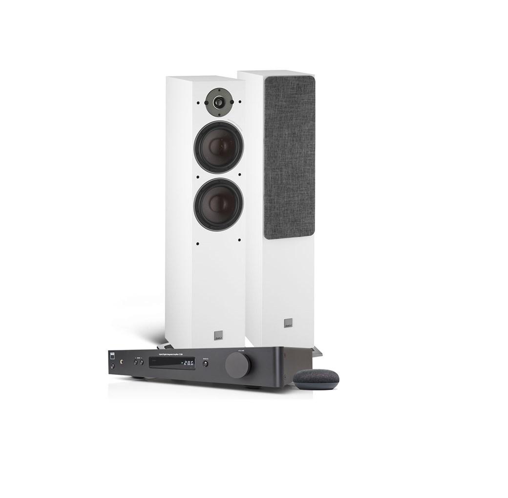 NAD NAD C338 + DALI OBERON 7 + Google Nest Mini Kabellose Kompaktanlage Kabellose Kompaktanlage