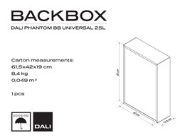 DALI PHANTOM UNIVERSAL 25L Backbox