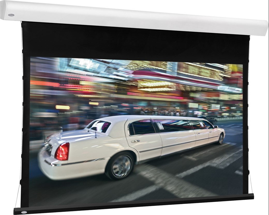Euroscreen Linea Tab Tension Flexperf Motordriven projektorskärm