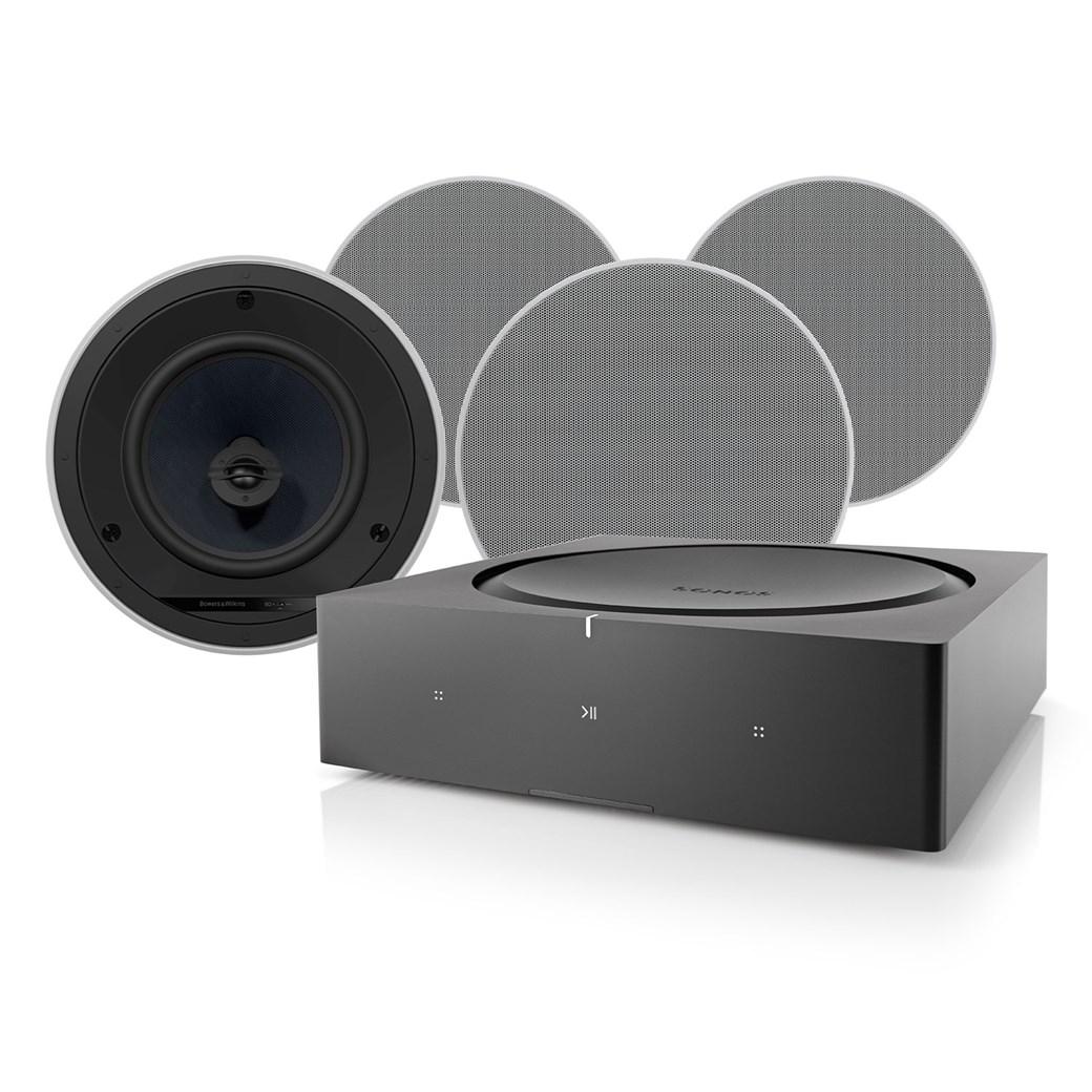 AMP + CCM683 + Phantom Backbox 25L Högtalarsystem Högtalarsystem