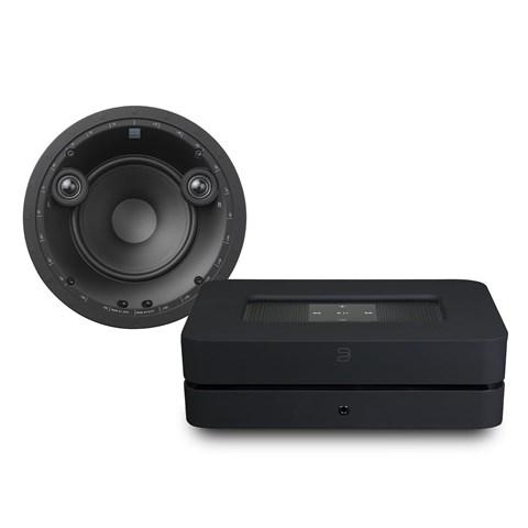 Bluesound Bluesound Powernode 2i (HDMI) + Phantom E60S + Phantom Backbox Uni 25L Højtalersystem Højtalersystem