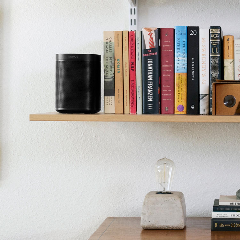Sonos One (gen 2) Smart trådløse høyttaler med stemmestyring