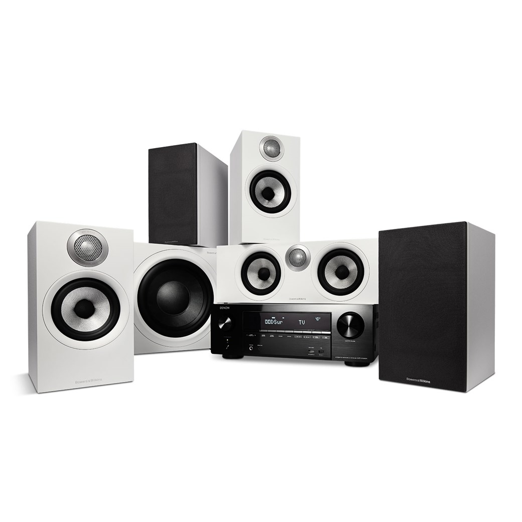 Denon Denon AVR-X1600H + Bowers & Wilkins 607 S2 AE + HTM62 S2 AE + ASW610 M - 5.1 Hjemmebio-system Hjemmebio-system