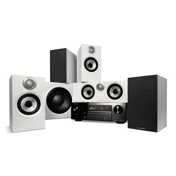 Denon AVR-X1600H + Bowers & Wilkins 607 S2 AE + HTM62 S2 AE + ASW610 M - 5.1 Hjemmebio-system