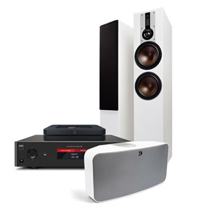 NAD C368 + NODE2i + OPTICON 6 + PULSE2i Digitalforstærker med streaming