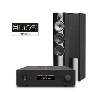 NAD C388 + MDC BluOS2i + B&W 704 S2 Muzieksysteem met streaming